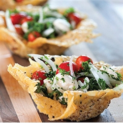 Picture of PARMESAN BASKETS WITH TOMATO-PARSLEY SALAD
